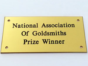 Solid Brass Plaque
